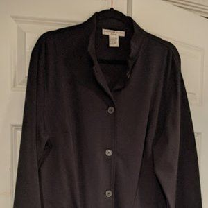 Josephine Chaus Size 2 Black Button Down Cardigan